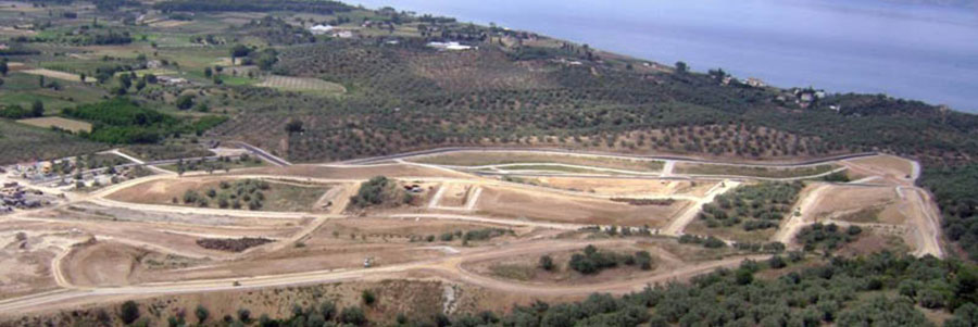 Construction of infrastructure works at the area of Evia Island