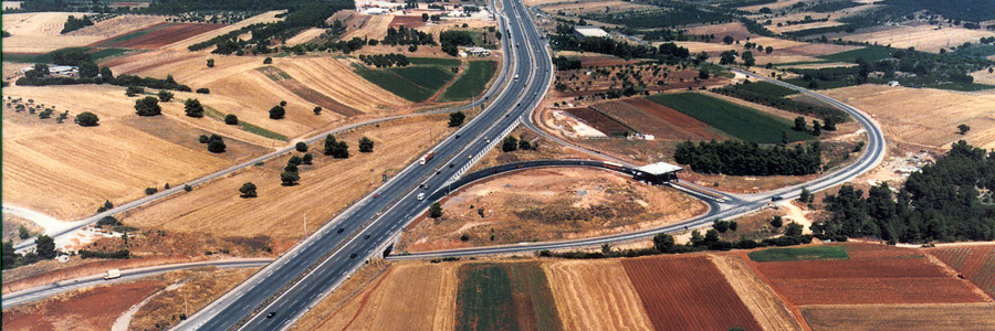 Athens – Lamia highway Section junction Markopoulo junction Oinofita